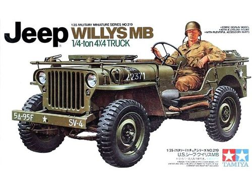 TAMIYA 35219 1/35 Jeep Willys MB 1/4ton 4X4 Truck
