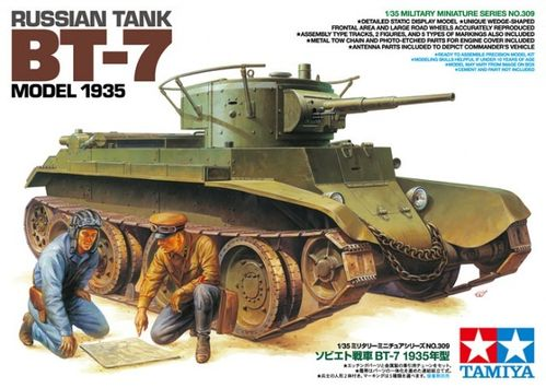 TAMIYA 35309 1/35 Russian tank BT-7 Model 1935