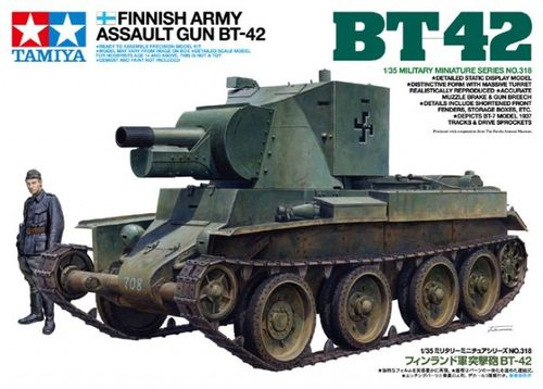TAMIYA 35318 1/35 Finnish Army Assault Gun BT-42