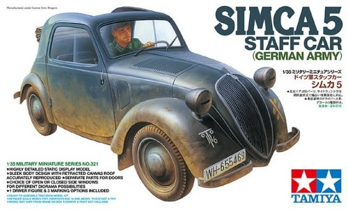 TAMIYA 35321 1/35 Simca 5 Staff Car (German Army)