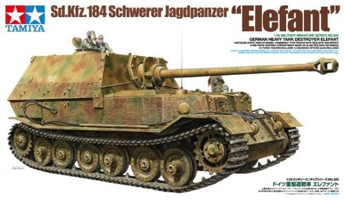 "TAMIYA 35325 1/35 Sd.Kfz.184 Schwerer Jagdpanzer ""Elefant"" German Heavy Tank Destroyer"