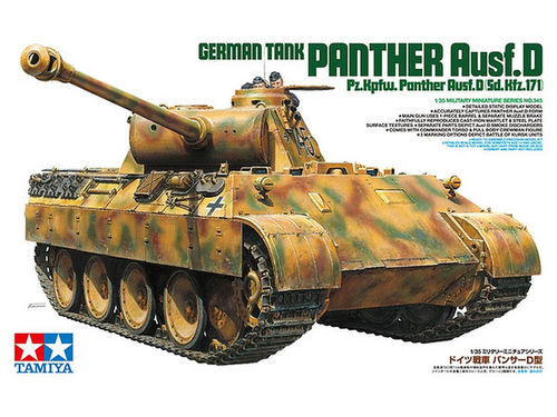 TAMIYA 35345 1/35 German Tank Panther Ausf.D (Sd.Kfz. 171)