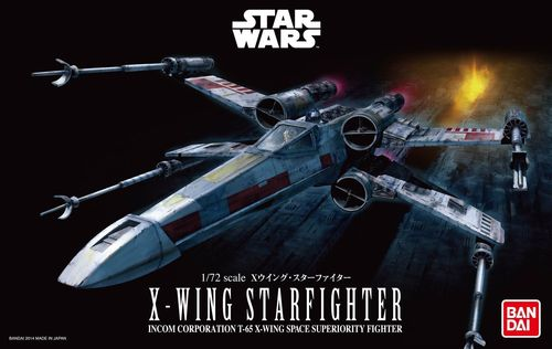 BANDAI 2259073 1/72 Star Wars X-Wing Starfighter