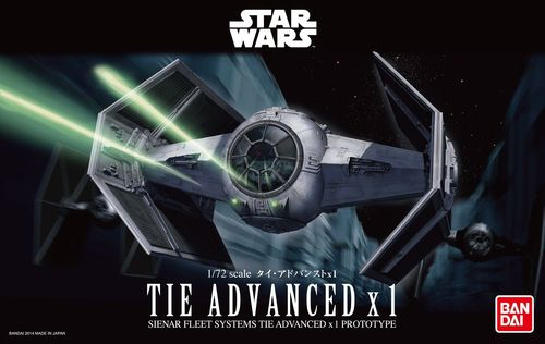 BANDAI 2259074 1/72 Star Wars TIE Advanced x1