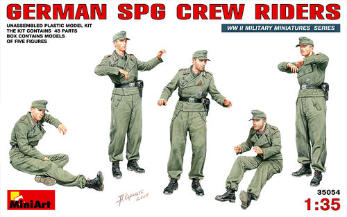 MINIART 35045 1/35 German SPG Crew Riders