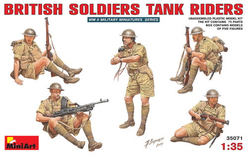 MINIART 35071 1/35 British Soldiers Tank Riders