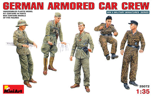 MINIART 35072 1/35 German Armored Car Crew