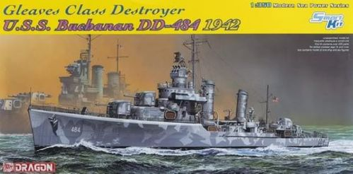 DRAGON 1021 1/350 Gleaves Class Destroyer U.S.S. Buchanan DD-484 1942