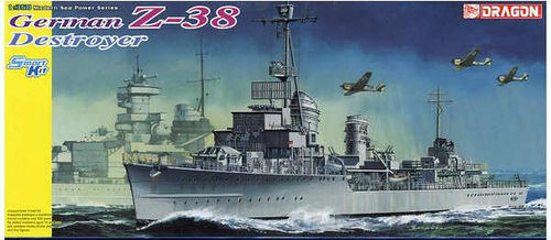 DRAGON 1049 1/350 German Z-38 Destroyer