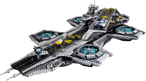 LEGO 76042 SHIELD Helicarrier NO mini-figures - w/ 8 SHIELD Agents Statuette