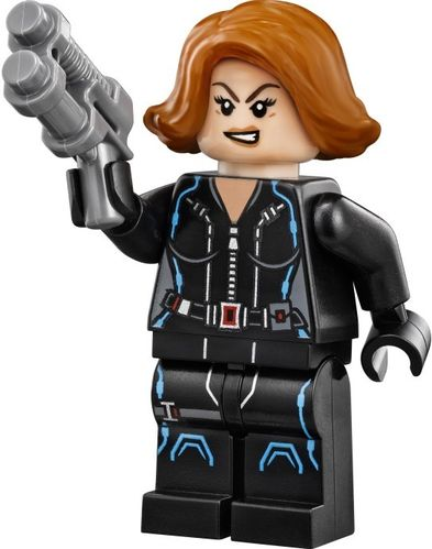 LEGO 76042 (Split) Black Widow - Short Hair