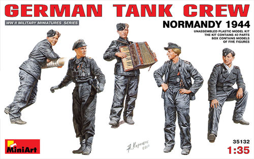 MINIART 35132 1/35 German Tank Crew Normandy 1944